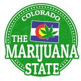 The marijuana state, Colorado stamp