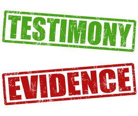 Testimony and evidence stamps