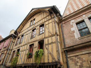 Typical hourse in Vezelay, Bourgogne, France