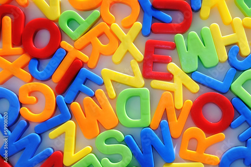 colorful letters