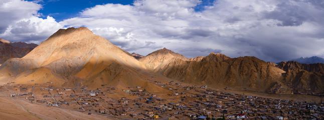 Panorama of Leh Ladakh city scape