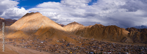 Panorama of Leh Ladakh city scape