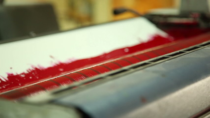 coloration in the printing equipment (red) 3