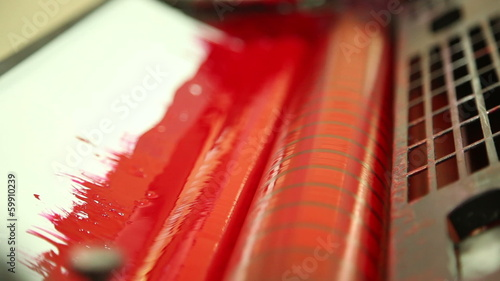 coloration in the printing equipment (red) 2