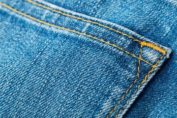 Jeans back pocket close up