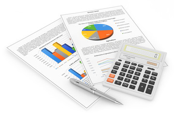 Business workplace. Finance concept