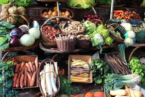 Fotobehang Groenten France - vegetable market