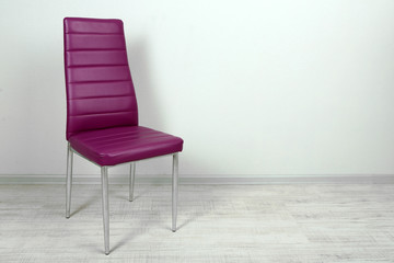 Modern  color chair in empty room on wall background