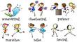 Six different activities