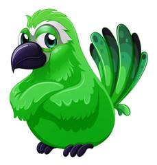 A scary green bird