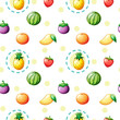 Seamless design with fruits