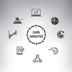 big data technology diagram. background