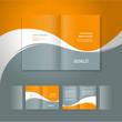Zdjęcia na płótnie, fototapety, obrazy : booklet design template white curve line orange grey