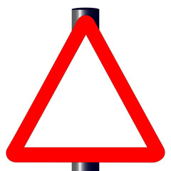 Blank Triangle Traffic Sign