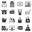 supermarket icons set, shopping icons