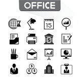 office and organization icons set