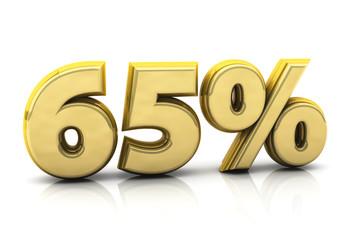 Sixty five gold percent