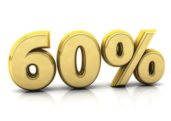 Sixty gold percent