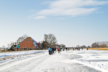 Ice skating in the countyside from the Netherlands