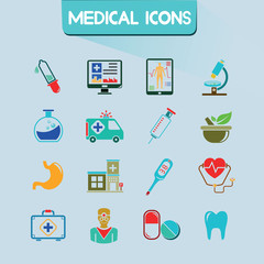 medical icons set, vector set