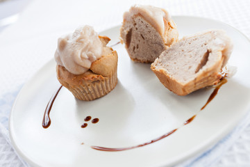 Cupcakes con glassa alle castagne