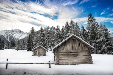 panorama alpino invernale