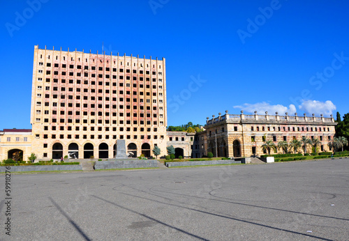 Ruins of a building of the Council of Ministers in Abkhazia