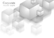 Abstract cubes technology background