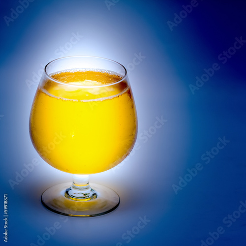 Beer in a wine glass