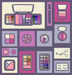 Set of cosmetics icons