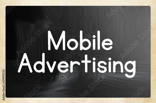 mobile advertising concept