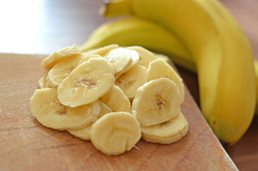 banana sliced