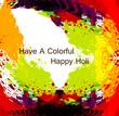 Beautiful grunge colorful holi background illustration