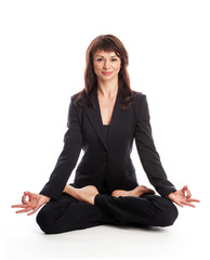 Business Woman in Yoga Pose