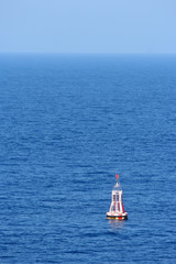 A warning buoy off the coast of Spain, Barcelona