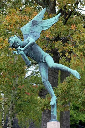 Angel Musician in Millesgarden sculpture garden in Stockholm
