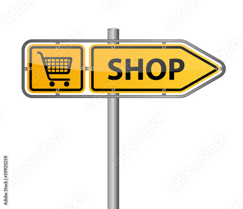 Shop Wegweiser Vektor