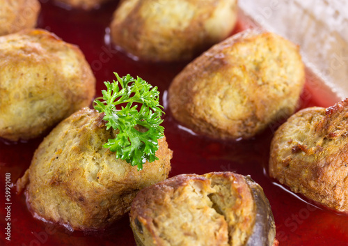 Gefilte fish on a platter