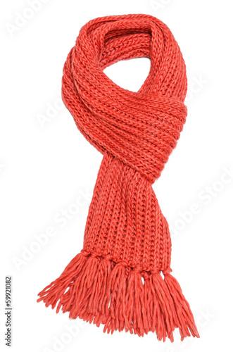 Leinwanddruck Bild Red scarf