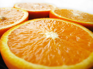 Orange cut by fractions