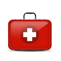 Red First Aid kit. Illustration