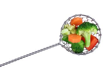 Frisches Gemüse für Fondue