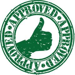 Grunge approved rubber stamp, vector illustration