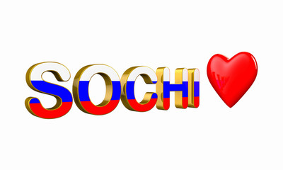 Sochi  and Heart  3d