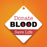Donate Blood Save Life - Vector Paper tag / sticker