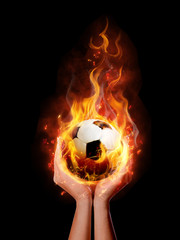 fire ball in hand