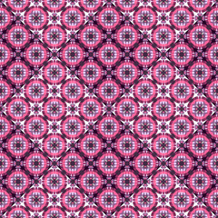 Ethnic purple seamless pattern