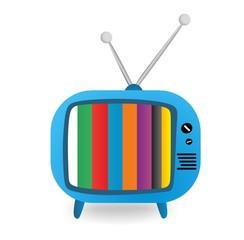 Blue retro TV