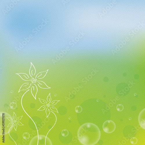 Beautiful green stripe spring background