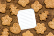 Cookies with a lined paper for text